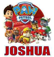 "Personalized Paw Patrol Iron On Transfer 5""x5.25"" For LIGHT Fabrics"