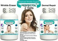 2 ANTI AGING PILLS TABLETS WRINKLE BLEMISH SKIN TONE REMOVE AGE SPOTS FINE LINES
