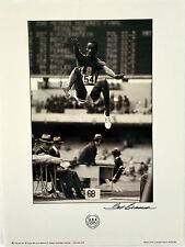 Signed by BOB BEAMON - TRACK & FIELD Olympic  Poster