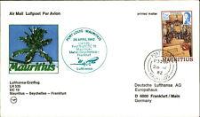 LUFTHANSA Erstflug 1982 MAURITIUS SEYCHELLES Frankfurt 1st flight cover & stamp