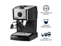New DeLonghi EC155M Espresso Machine Black Latte Cappuccino Coffee OPEN BOX