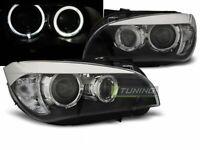 Coppia di Fari Anteriori per BMW X1 E84 2009-2012 AE LED Neri IT LPBME0-ED XINO