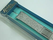 """Vintage Mint Unused Stainless Kreisler butterfly clasp Short watch band 11/16"""""""