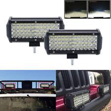 2pcs 288W 7'' offroad LED Work Light Bar 12V Spot for Jeep 4WD Truck 4x4 SUV ATV