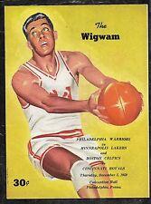 Dec 3 1959 Wilt Chamberlain Warriors/Lakers Rookie Program & Ticket Stub 41 pts
