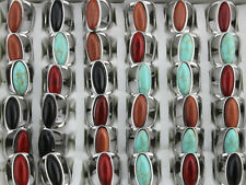 New Fashion Jewelry Mixed Lots 32pcs Stainless Steel Lady's Natural Stone Rings