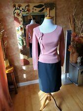 Ann Taylor Loft Wool Pink Long Sleeve Sweater With Flower,  XS