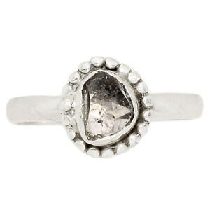 Herkimer Diamond - USA 925 Sterling Silver Jewelry Ring s.7 BR4488 264B