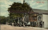Whitman MA Washington St. c1910 Postcard #2