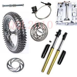 "70/100-17"" Front Wheel Rim Tyre+Triple Tree + Front Fork F Trailmaster MB 200-2"