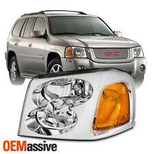 [OE Style]For 2002-09 GMC Envoy SUV Chrome Bezel Headlight Lamp Driver Left Side