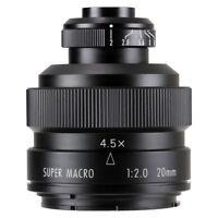 Zhongyi Mitakon 20mm f/2 4.5X Super Macro Lens for Minolta AF mount camera
