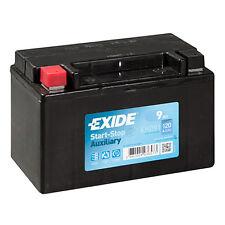 1x Exide Stop Start 9Ah 120CCA 12v Auxiliary Car Battery 4 Year Warranty EK091