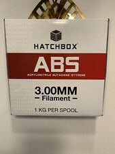 HATCHBOX ABS SILVER -3.00MM, 1KG SPOOL