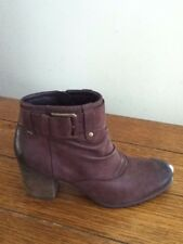 NEW Josef Seibel Britney 23 Size 38/7.5 Brown Leather Ankle Boots Shoes