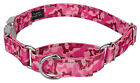 Pink Bone Camo Reflective Martingale Dog Collar With Premium Buckle