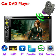 "6.2"" 2 DIN Car FM Radio DVD CD Player Touch Screen Bluetooth Audio Video Input"