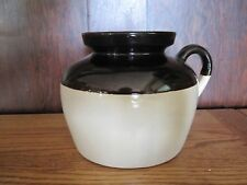 VINTAGE ROSEVILLE RRP Brown + White Stoneware Pottery Jug Pitcher
