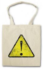 WARNING SIGN STOFFTASCHE Symbol Logo USA Caution Danger Hipster Warnschild