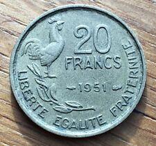 PIECE DE 20 FRANCS GUIRAUD 1951 (83)