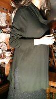 J Jill Pima Cotton Black Cowl Neck Tunic Top Women's Size Large  Long Sleeve