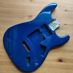Spares Relic 2000 Squier By Fender Strat Stratocaster Dark Blue Guitar Body
