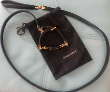 New listing Dsquared Limited Edition Dog Leash and Collar Black Leather Gold Hardware Xs