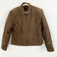 River Road Brown Motorcycle Jacket with Padding and Liner women's Size Large
