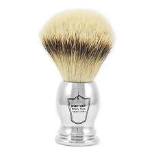 PARKER CHST grande punta argento Pennello da barba in tasso con CROMATA placcato