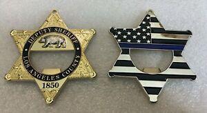 Challenge Coin Los Angeles County Sheriff Office DEPUTY opener bear