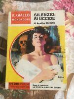 Agatha Christie Silenzio si uccide - Il giallo Mondadori 1963 n. 759