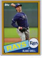 Blake Snell 2020 Topps 1985 35th Anniversary 5x7 Gold #85-94 /10 Rays
