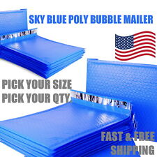 Blue Poly Bubble Mailers Padded Envelope Protective Packaging Pouch Bags