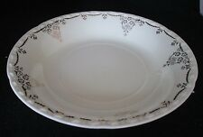 "Crooksville China Co Pattern #937 Soup Bowl Gold Trim 8"" diameter"