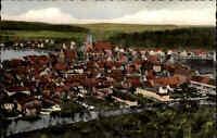 Mölln in Lauenburg Color AK ~1950/60 Totale vom Wasserturm gesehen ungelaufen