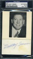 Bulldog Turner Vintage Signed Psa/dna 3x5 Index Card Cut Autograph Authentic