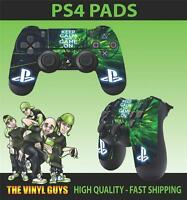 PS4 PLAYSTATION 4 CONTROLLER PAD STICKER KEEP CALM AND GAME ON SKINS X 2