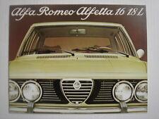 ALFA ROMEO  Alfetta 1.6-1.8L   brochure/Prospekt  03-1979.