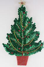 Christmas Tree Sequin Applique Shinny & Brigh, Pressure Sensitive glue & move ar