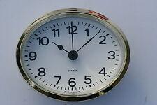 Oval Clock Suitable for Caravans, Motorhomes & Boats White Arabic, Brass Bezel