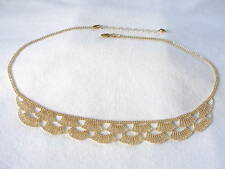 """14K Gold """"Beaded Lace"""" Ornate Necklace"""