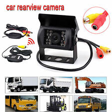 Wireless 12-24V Transmitter & Receiver + IR Rear View Backup Camera For RV Truck