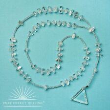 Clear Quartz Crystal Rosary Beads With Clear Quartz Crystal Triangle Casa Brazil