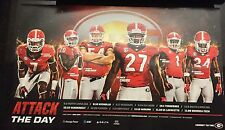 Georgia Bulldogs Football 2016 Team Schedule poster Nick Chubb Kirby Smart