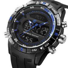 Shark BRAND Sport Watch LCD Men Date Alarm Silicone Strap Stopwatch Digital Gift