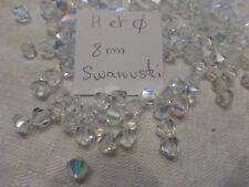 lot de 35 perle  SWAROVSKI cristal  AB toupie 8 mm SUPERBE