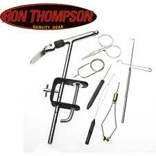 ** New ** Ron Thompson Fly Tying Kit (6 Tool Pieces + Vice)