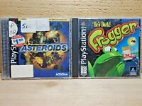 PS1 Retro Game Lot Asteroids & Frogger Sony Playstation 1 Video Game Tested