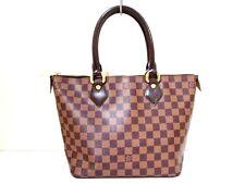 Authentic LOUIS VUITTON Damier Saleya PM N51183 Ebene Handbag VI1180