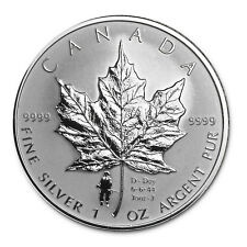 D-Day privy Mark - 2004 Canada $5 Fine Silver Maple Leaf